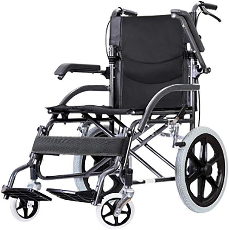 LCPP - Silla de ruedas plegable, ligera, duradera y resistente para personas mayores con discapacidad pequeño ultraligero portátil de viaje puede ayudar a ancianos y discapacitados