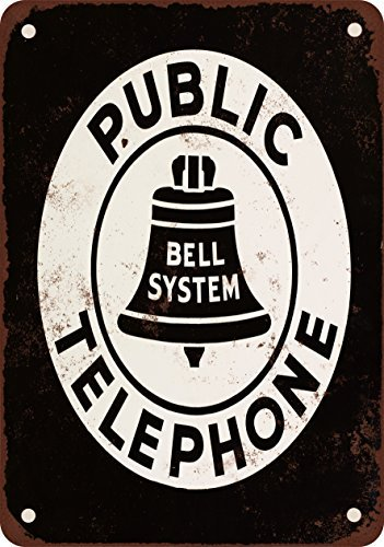 Bell System Public Telephone Vintage Look Reproduction Metal Signs 12X16 Inches