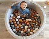 Langxun Light Grey Pit Ball Kiddie Pools, Kids Ball Pit Playpen For Baby Kids Children, Ball Pits Accessories