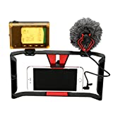Smartphone Video Rig + 96 LED light + Boya BY-MM1 Microphone,Ulanzi iPhone Filmmaking Recording Vlogging Rig Case ,Phone Movies Mount Stabilizer for iPhone 7 Plus Sumsang Ghost Hunting Equipment