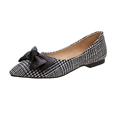 Casual Ladies Womens Rhinestones Pointy Toe Loafers Oxfords Slip On Flats Shoes
