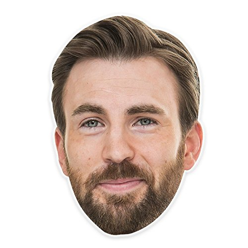Cool Chris Evans Mask, Perfect for Halloween, Masquerades, Parties, Festivals, Concerts - Jumbo Size Waterproof -