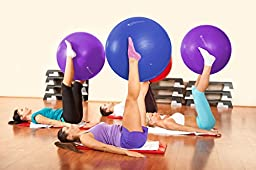 EXERCISE BALL - GYM GRADE QUALITY, Anti-Burst, Anti-Slip Exercise Balls, Fast Start Stability Ball Workout Guide, Perfect for Yoga Ball, Pilates, CrossFit – Your New Desk Chair! (Purple, 65 cm)