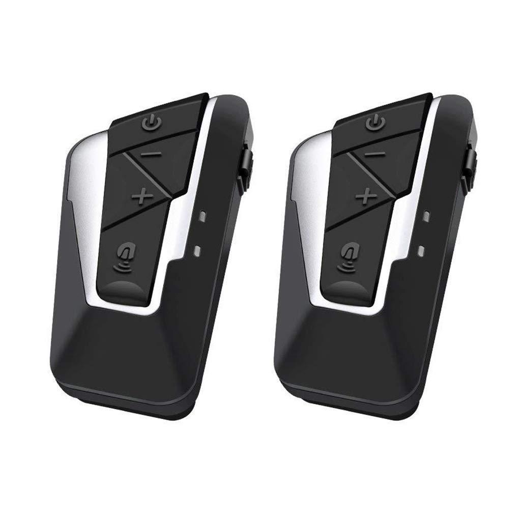 AUTOLOVER 1000M Motorbike Bluetooth Headset, BT-S2 Motorcycle Helmet Intercom Interphone and Audio for MP3 Player/GPS/Walkie-Talkie, Hands Free & FM Radio (Single)