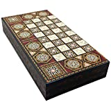 The 19'' Black Star Turkish Backgammon Board Game Set