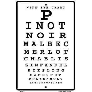 Amazon Wine Eye Chart 10 X 15 Aluminum Sign Garden Outdoor