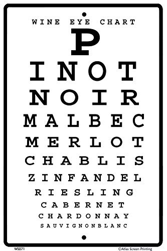 CROSSWALKS Wine Eye Chart 10