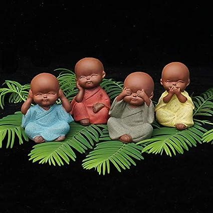 Amazon.com: VietFA Buddha Statues - Mini estatua de monje de ...