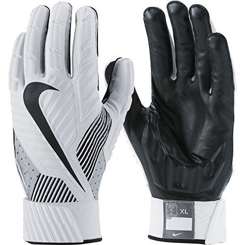 Nike D-Tack 5 (Defensive Tackle) White Lineman Football Gloves (Small)