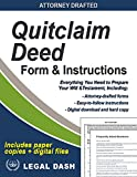 Quitclaim Deed Form with Instructions – Includes Paper Forms + Digital Downloads - Do-It-Yourself Quit Claim Deed Form
