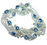 SilverFury Sapphire Women 925 Sterling Silver Necklace - FREE GIFT BOX