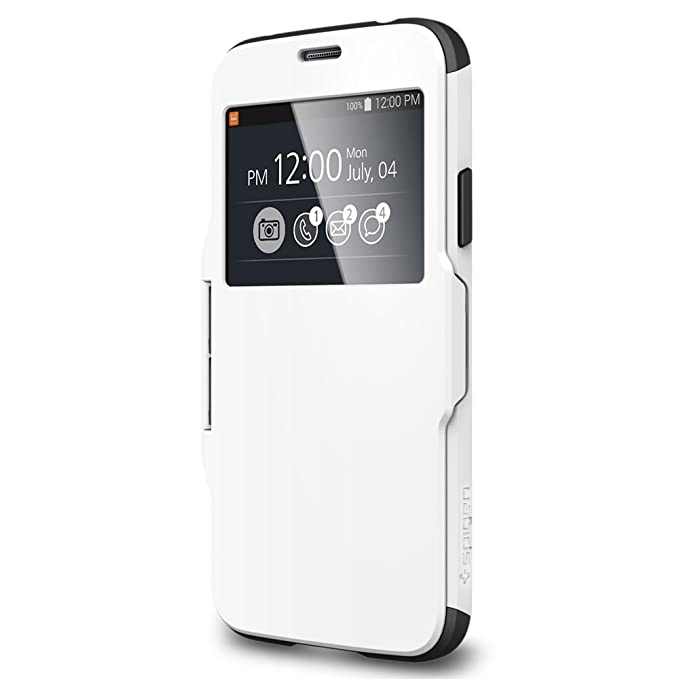 reputable site 83a3d 782c7 Spigen Slim Armor View Designed for Samsung Galaxy S5 Case (2014) - View  Smooth White