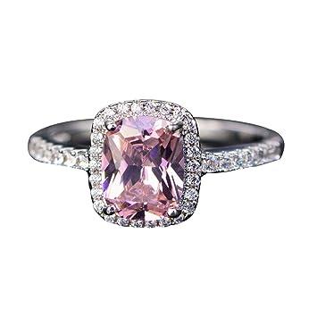 Elegante anillo cuadrado con piedras de imitación incrustadas, anillo de compromiso, anillo de propuesta - amarillo US 10: Amazon.es: Belleza