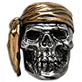Pirate Paracord / Lanyard Bead in .925 Sterling Silver & Bronze by GD Skulls