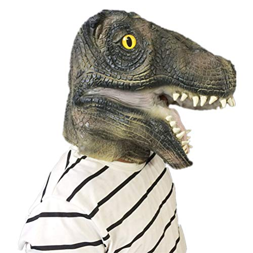 TOYMYTOY T Rex Costume - Dinosaur Latex Head Mask, Halloween Prop