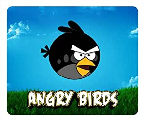 Customizablestyle Black Angry Birds Mousepad, Customized Rectangle DIY Mouse Pad