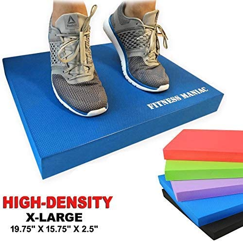 FITNESS MANIAC Balance Pad, Trainer for Stability – Balance Board Rehab, Use as Foam Mat, Pad Physical Therapy, Kneeling with Padding Extra Thick Cushion Large X-Large