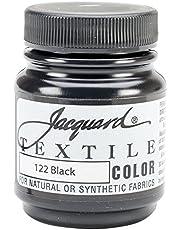 Jacquard Products Textile Color Fabric Paint, 2.25-Ounce, Black