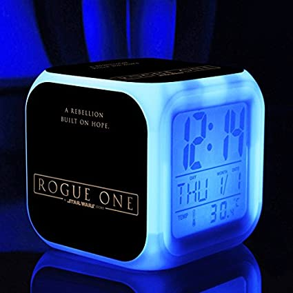 Hot película TV Rogue Uno: Una historia de Star Wars 7 colores Cambio LED reloj