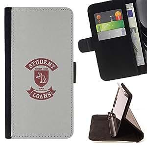 Jordan Colourful Shop - student life funny quote scales loan money For LG Nexus 5 D820 D821 - < Leather Case Absorci????n cubierta de la caja de alto impacto > -