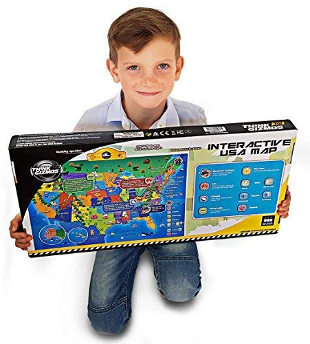 Interactive Talking USA Map for Kids TG660 - Push, Learn and
