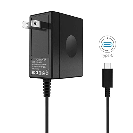 Amazon.com: Adaptador de CA para Nintendo Switch DC15V/2.6A ...