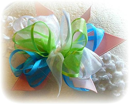 Amazon.com: TURQUOISE BLUE PASTEL PINK LIME GREEN WHITE HAIR BOW ...