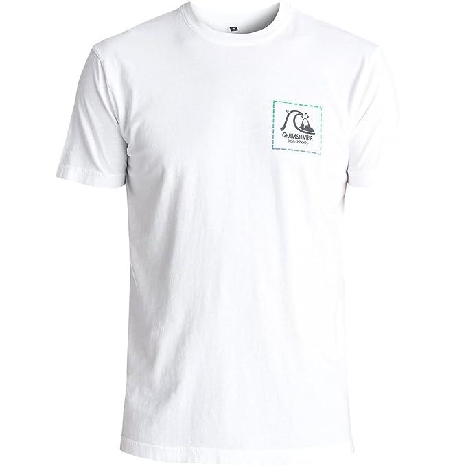 Quiksilver - Camiseta - para hombre blanco blanco Large  Amazon.es  Ropa y  accesorios efad2cd9be5