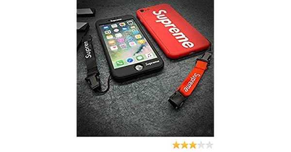 Supreme iPhone 6/6S Teléfono móvil de protección Integral con una Banda Funda Cover Carcasa y Fundas Jordan (Rojo)