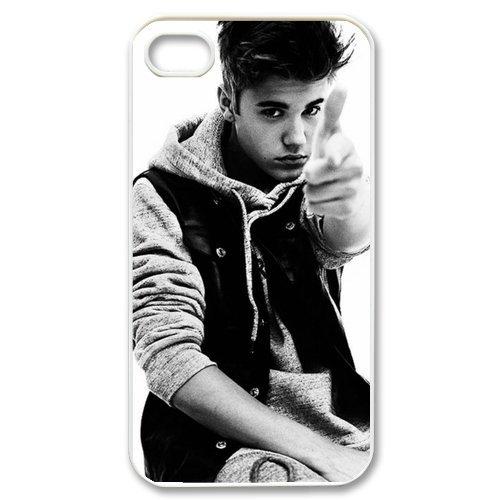 Custombox Justin Bieber iphone 4/4s Case Plastic Hard Phone case-iPhone 4-DF00089