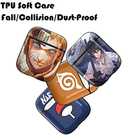 AirPods Case Soft TPU Shockproof Cover Case for Apple Airpods 2 /& 1,Naruto Unique Design Skin Kits Cases with Carabiner Holder for Girls Kids Teens Smooth Wireless Charging Air Pods Naruto