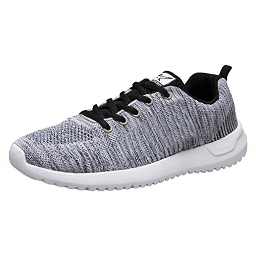Keezmz Men's Ultra Lightweight Running Shoes Walking Shoes Gray-44