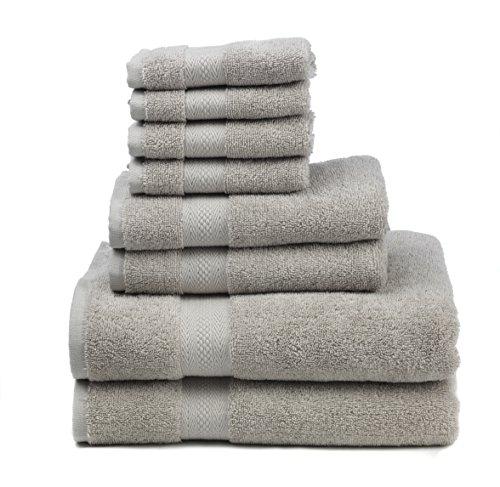 Premium 100% Cotton 8-Piece Towel Set (2 Bath Towels 30