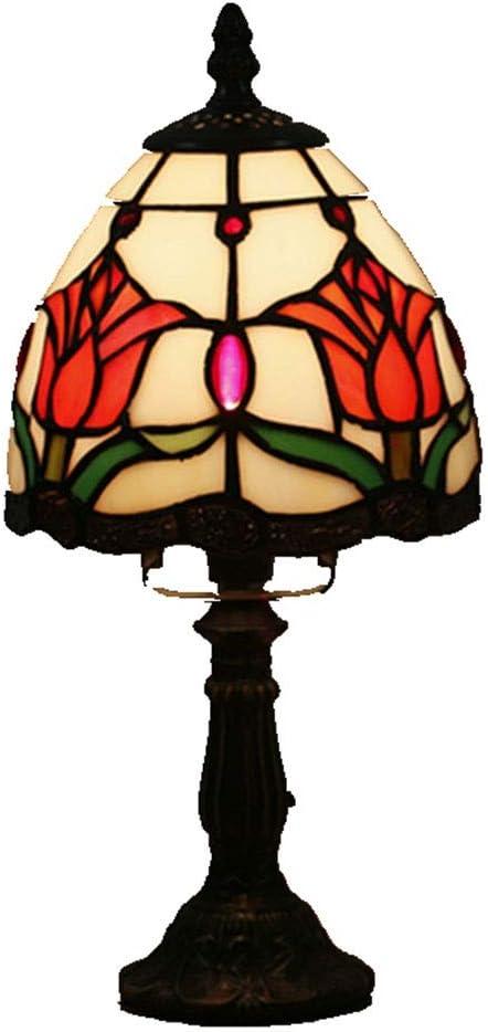 WELSUN Lámpara de Escritorio Tiffany Ambrose Tiffany de Estilo ...