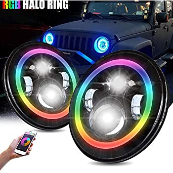 Amazon Com T Former Rgb 7 Quot Led Headlights With Color