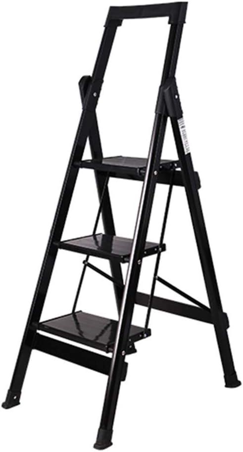 Multifuncional Escalera de la biblioteca, almacén Escalera de metal plegable Escalera de fotografía al aire libre Escalera de tres pasos para lavado de autos portátil estable: Amazon.es: Bricolaje y herramientas