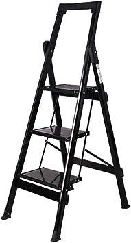 KJZ Escalera de la biblioteca, almacén Escalera de metal plegable Escalera de fotografía al aire libre Escalera de tres pasos para lavado de autos portátil (Tamaño : 42.5 * 49.5 * 120CM):