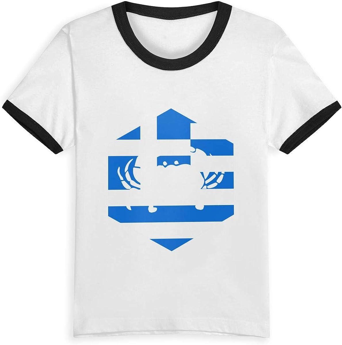 Camiseta de algodón con Estampado de Dibujos Animados para niños y niñas con Estampado de la Reina Elena Cáncer Grecia Griega, 2 – 6 años Negro Negro (3 años: Amazon.es: Ropa y accesorios