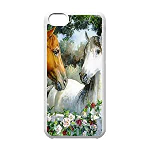 J-LV-F Print Horse Pattern PC Hard Case for iPhone 5C