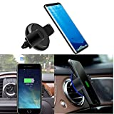 qi vent - EEkiimy QI Wireless Car Charger Mount Cell Phone Air Vent Car Holder Wireless Charger Holder for iPhone 8 8 Plus X Samsung Galaxy S8 Plus Wirelss Car Charger Note 8 Wireless Car Mount