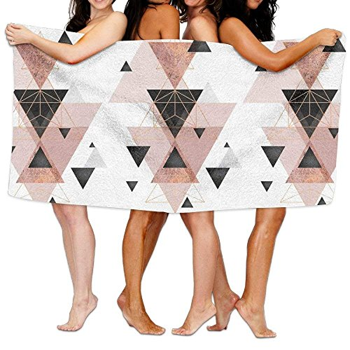 Cap New Geometric Triangles And Rose Gold Christmas Unisex Fashion Towel Personalized Print Beach Towels -