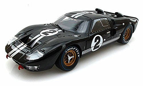 1966 Ford GT-40 MK 2 Black #2 1/18 by Shelby Collectibles SC408 - Shelby Collectible Vehicle