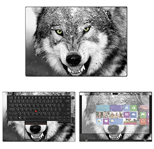 - decalrus - Protective Decal Wolf Skin Sticker for Lenovo ThinkPad T480 (14