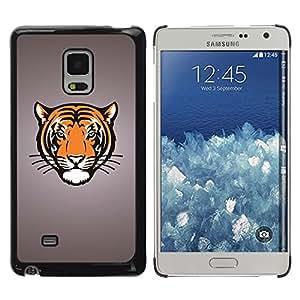 Shell-Star Arte & diseño plástico duro Fundas Cover Cubre Hard Case Cover para Samsung Galaxy Mega 5.8 / i9150 / i9152 ( Tiger Big Cat Crest )