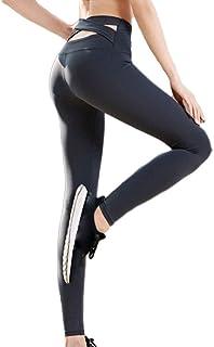 DIMPLEYA Pantalones De Fitness De Cintura Alta Color SóLido Alto EláStico Yoga Deportes Al Aire Libre Corriendo Delgado Adelgazante Pantalones De Yoga Multi-TamañO
