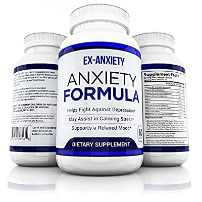 Stress Relief & Natural Anxiety Supplement by Optimal Effects - Naturally Manage and Relieve Chronic Stress - Hawthorn, 5-HTP, B-Vitamins, Ashwagandha, Biotin, Valerian (60 Veggie Capsules)