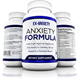 Natural Anxiety Pills Anti Stress Mood Enhancer Depression Supplement Made in USA - Calming Depression and Anxious Feelings - Anti Anxiety Supplement Men Women Kids
