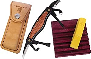 Flexcut Right-Handed Carvin' Jack, Folding Multi-Tool for Woodcarving, 4 1/4 Inch Closed Length, 6 Blades Included (JKN91)