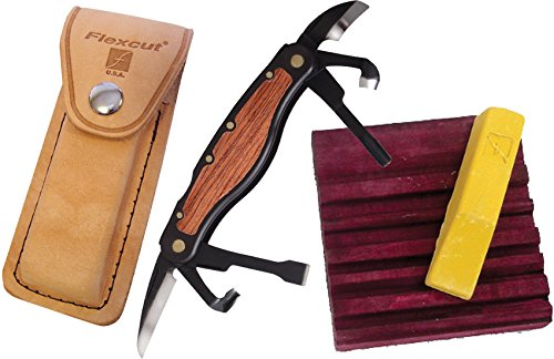 Flexcut Right-Handed Carvin' Jack, Folding Multi-Tool for Woodcarving, 4 1/4 Inch Closed Length, 6 Blades Included (JKN91) by Flexcut Tool