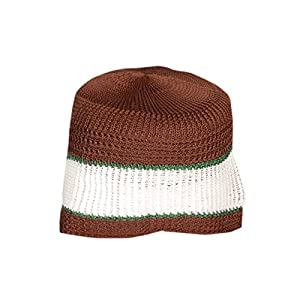 d8280c8f852cc Kurti Mania Men s Brown Stretchable Fabric Muslim Prayer Cap